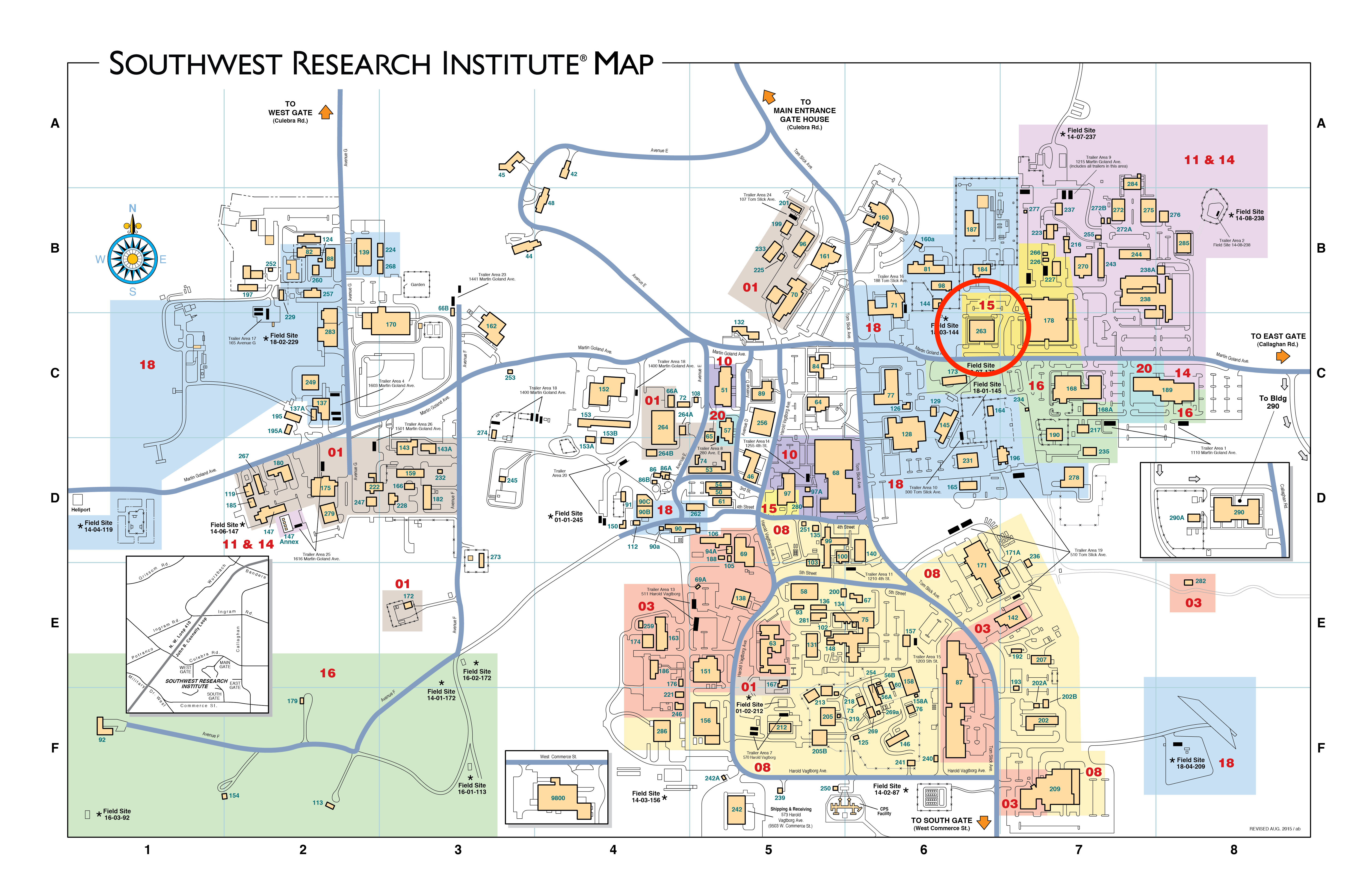 Southwest Research Institute Campus Map Www Topsimages Com